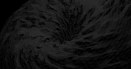 Abstract Futuristic Black Hole  - Digital Art Concept