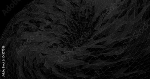Abstract Futuristic Black Hole  - Digital Art Concept - 104377548