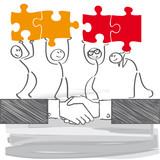 Fototapety Kooperation - Zusammenarbeit