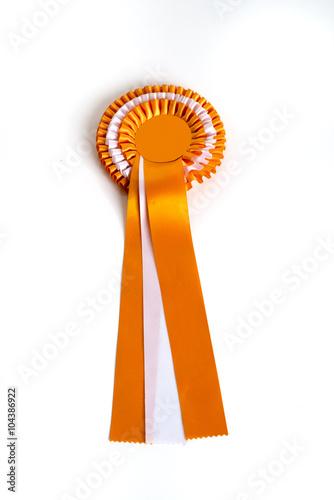 Orangefarbene Tunierschleife Poster