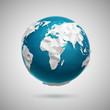 Vector Polygonal Globe Icon