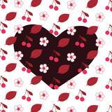 Cherry heart - 104402740