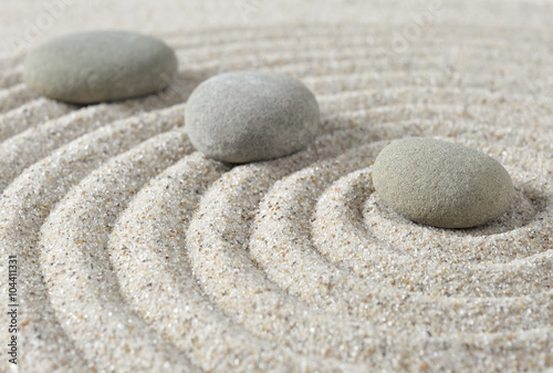 Poster Stenen in het Zand Stepping zen stones on a sand