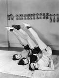 Three women exercising  - 104432149