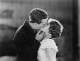 Couple kissing passionately  - 104437318