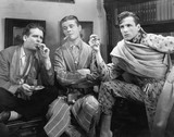 Three men smoking cigars  - 104443327