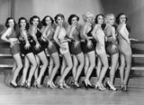 Line of female dancers  - 104450718