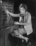 Portrait of telephone operator  - 104450730