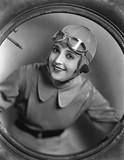 Portrait of female pilot  - 104456703