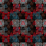 Colorful abstract ethnic seamless pattern