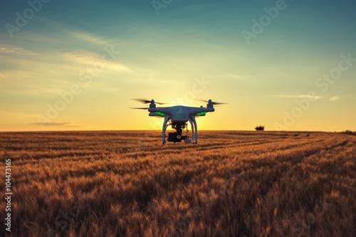 Varna, Bulgaria - June 23 ,2015: Flying drone quadcopter Dji Pha
