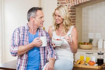 Cute couple having breakfast © WavebreakmediaMicro