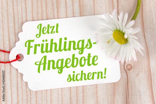 Zdjęcia na płótnie, fototapety, obrazy : Jetzt Frühlingsangebote sichern