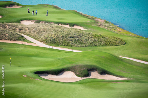 golf resort with the scenery of the sea - 104499572