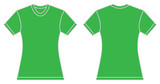 Women Green Shirt Design Template
