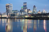 London Skyline from River Thames - 104579181