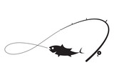 graphic black fishing, vecter