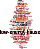 Low-energy house word cloud concept. Vector illustration