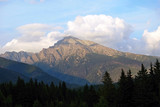 Krivane peak in High Tatras mountains from Podbanske resort