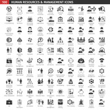 Fototapety Human Resources Black Icons Set