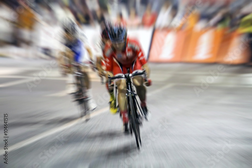 Fotobehang Wielersport blurry Asian Cycling Championship during the race for background