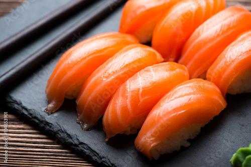 Poster Sushi with salmon