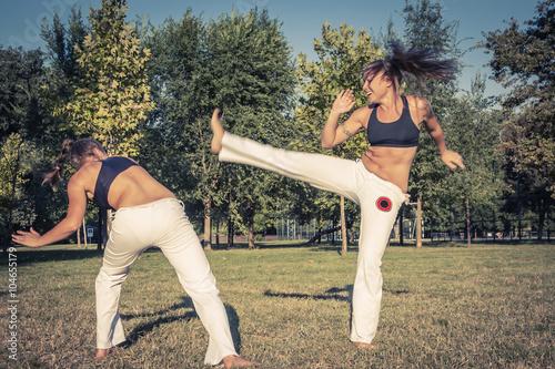 fototapeta na ścianę Capoeira demonstration