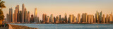 Fototapeta The beauty panorama of Dubai marina. UAE