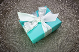 Gift in a beautiful box with a bow, candy - 104676531