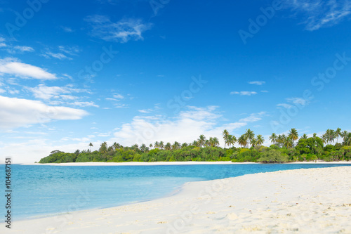 Landscape of tropical island with nice beach