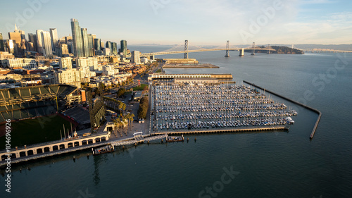 Above San Francisco's McCovey Cove