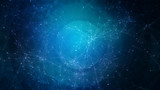 Abstract blue technology, business or science background