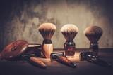 Fototapety Gentleman's accessories on a luxury wooden board