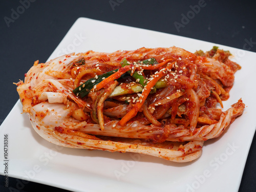 Poster Korean traditional food kimchi