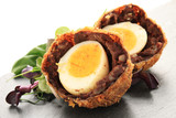 scotch egg plated starter appetizer