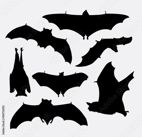 3e07a65bcee Bat flying animal silhouette. Good use for symbol, logo, web icon ...