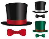 Fototapety Top hat and bow tie