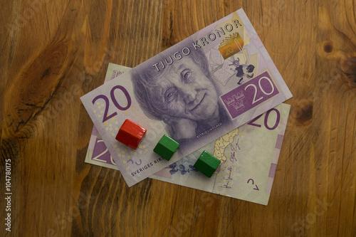 Poster Swedish 20 kronor bill