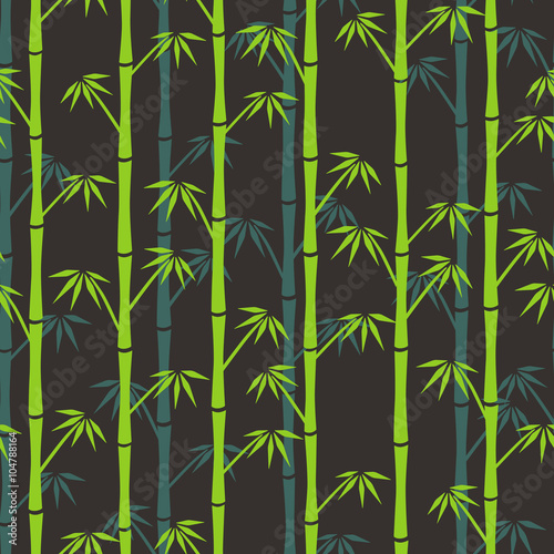 zielone-i-niebieskie-sylwetki-bambusa-na-bre-zowy-z-powrotem