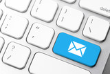 Email & contact us icon on computer keyboard - 104818382