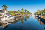 Beautiful canal of Fort Lauderdale, Florida - 104827386