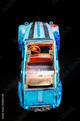 Poster altes Modellauto 2CV