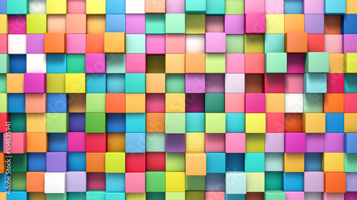 Fototapeta Abstract background of multi-colored cubes
