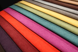 Fototapety Textile materials variety shades of colors