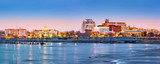 Trenton skyline panorama at dawn. Trenton is the capital of the US state of New Jersey. - 104877723