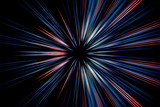 Abstract long exposure, speed lines motion - 104881938
