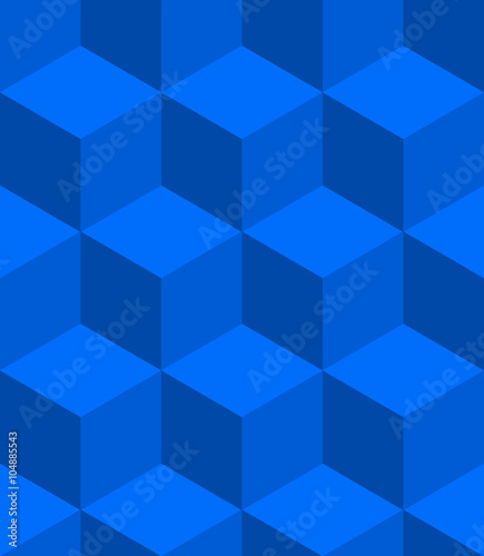 Isometric cubes seamlessly repeatable pattern. 3D cubes backgrou - 104885543