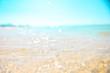 砂浜と波,癒し