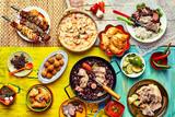Freshly cooked feast of Brazilian dishes - 104895984