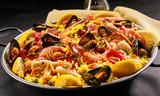 Close up of homemade paella a la margarita - 104897387